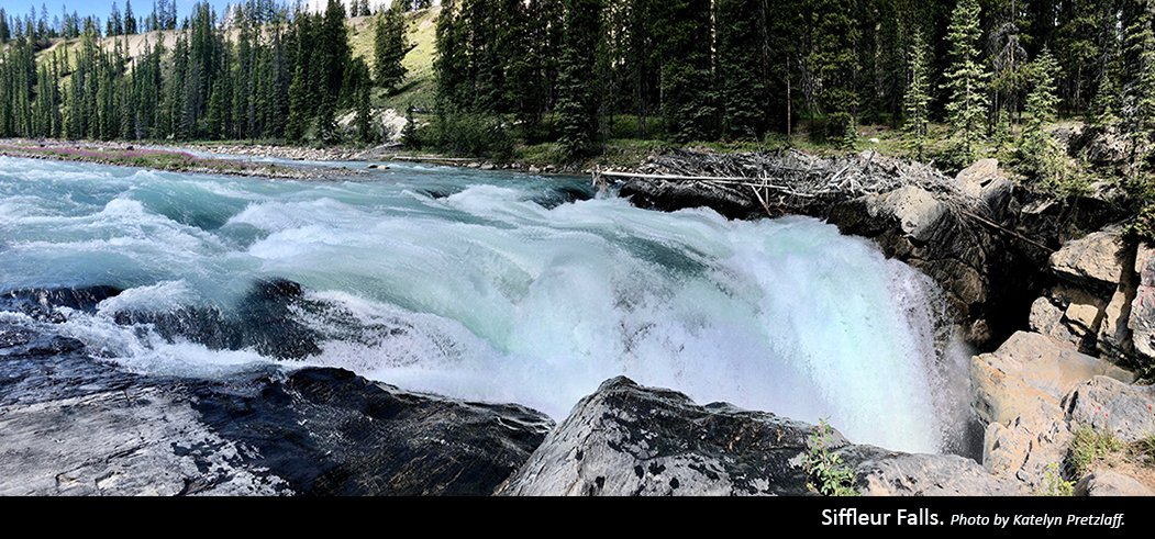 Siffleur Falls. Photo by Katelyn Pretzlaff