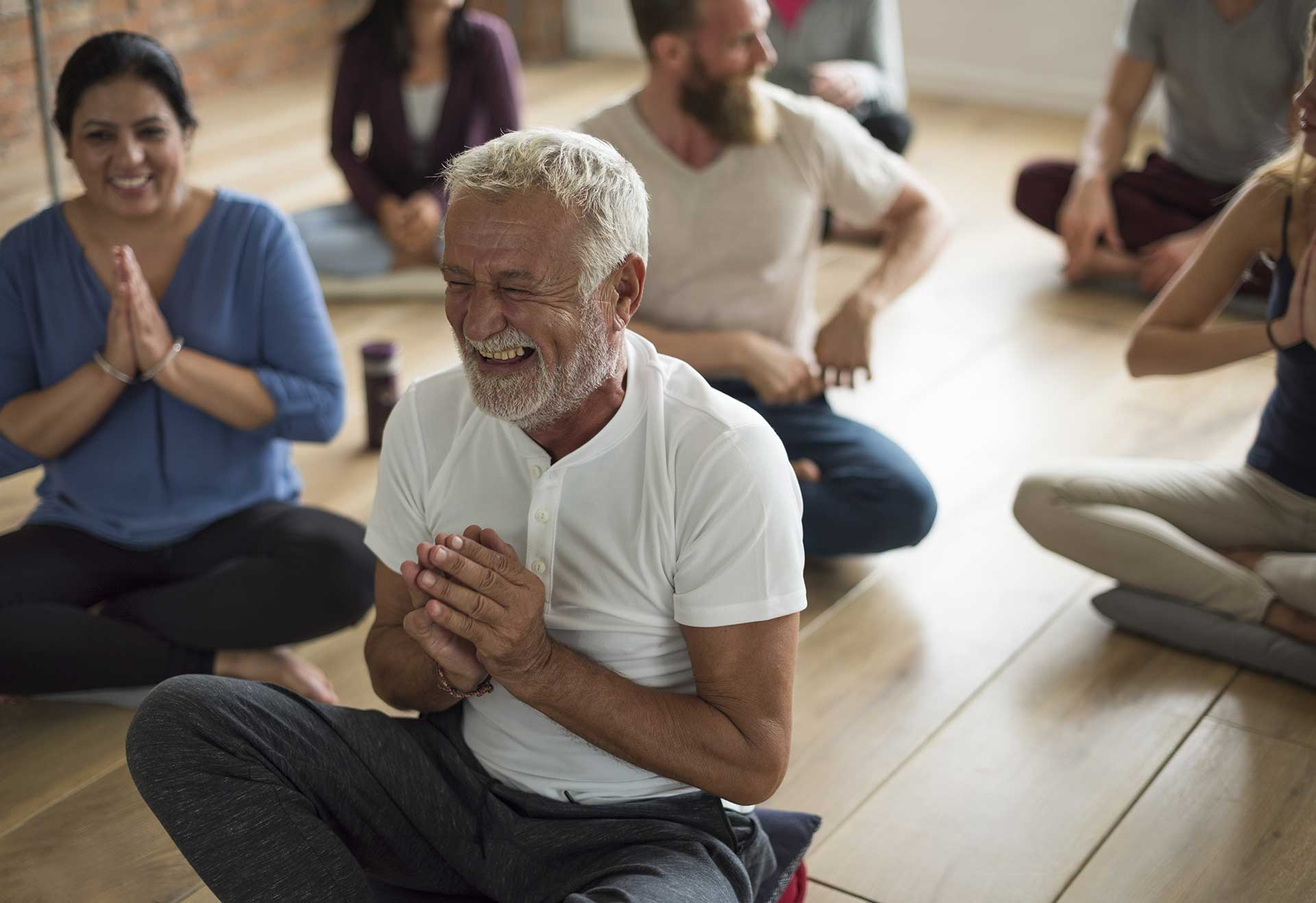 Laughter yoga practices for joy